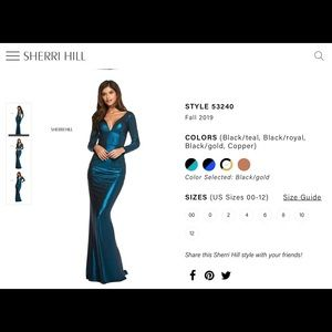 Sherri hill evening gown 53240